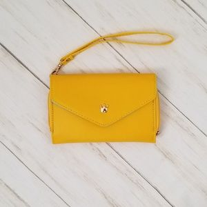Crown Smart Pouch in Yellow w/ Teal Inside